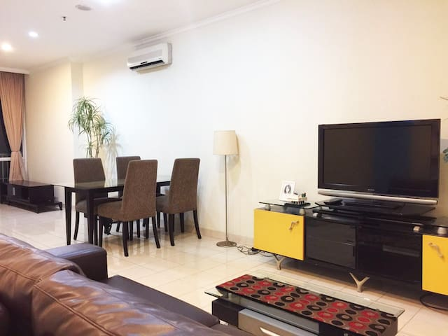 2bed 80sqm SPACIOUS w/AWESOME view@Apt Ambassador2 - Kecamatan Setiabudi - Daire