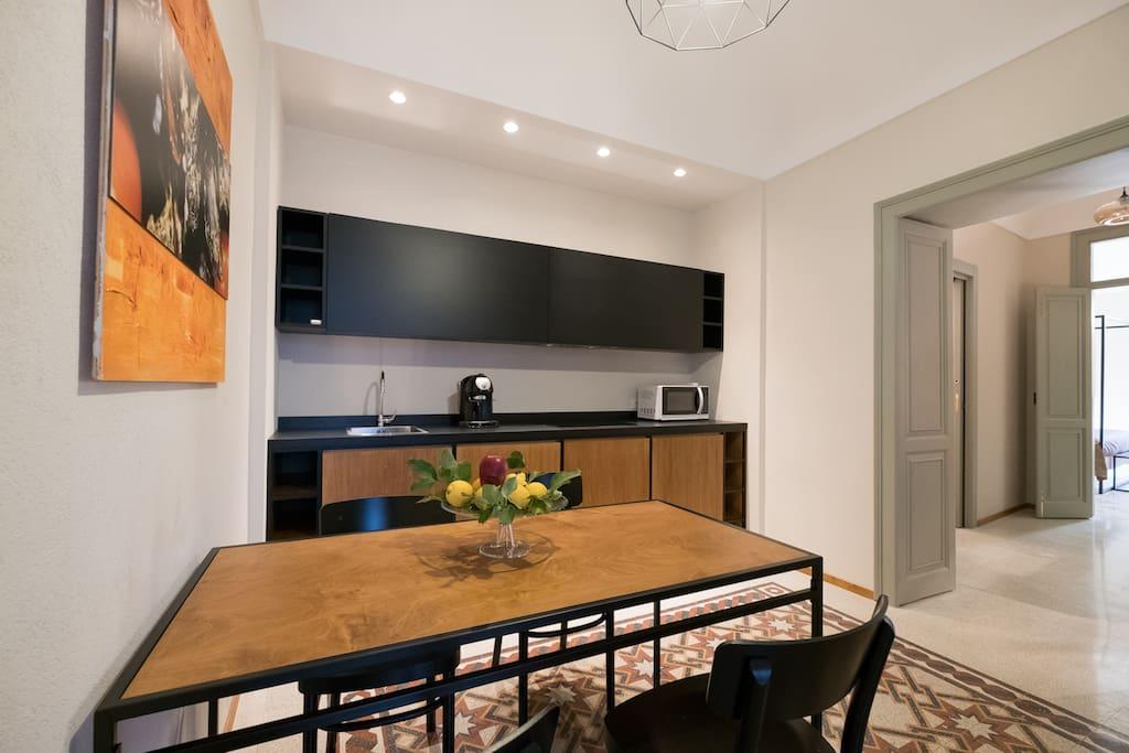 cucina , zona living
