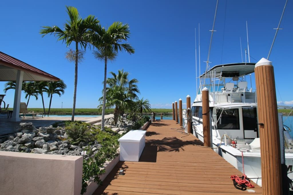 Private boat dock for vessels up to 70'.
