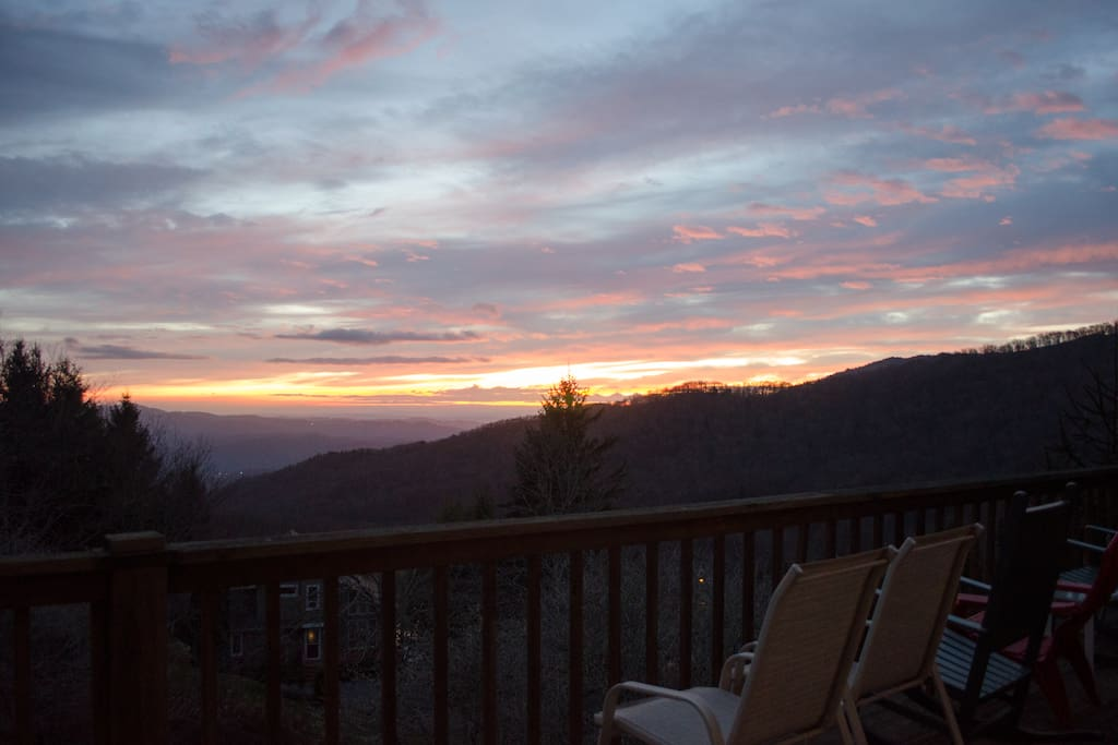 Amazing views off the back deck