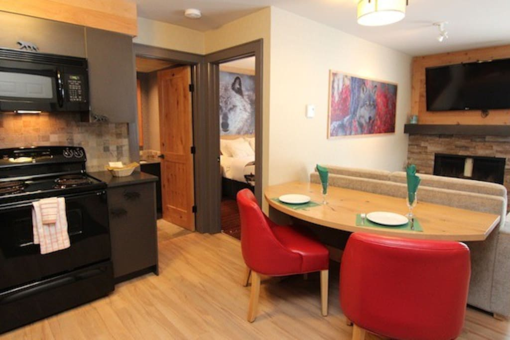 Enjoy cooking at 'home' in this well-equipped kitchen