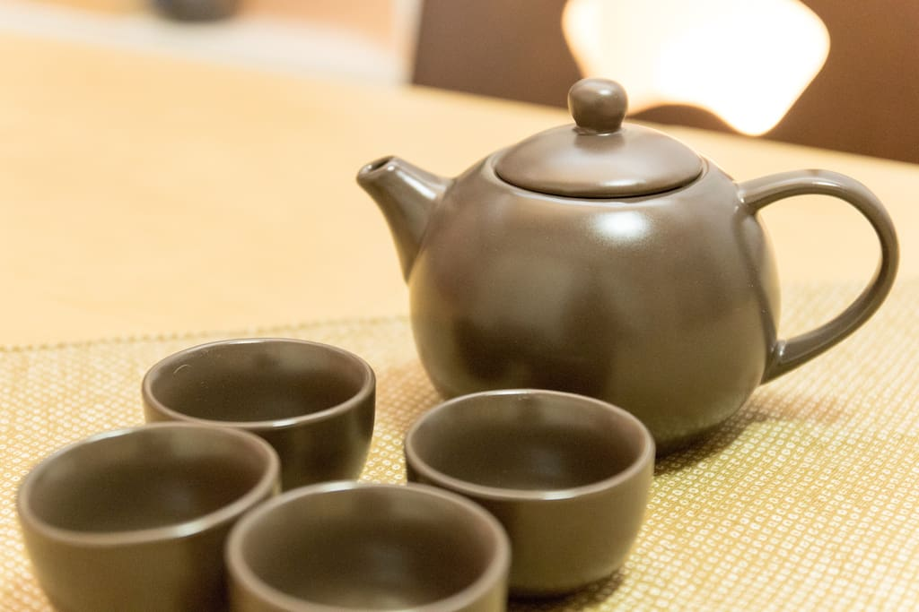 How about drink a Japanese Tea in the Japanese room?