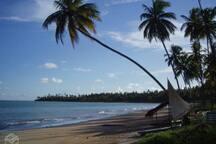praia bonita a 400m da casa.