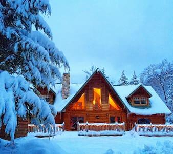 Log Cabin on 100 acres in ADK park - Johnsburg - Maison