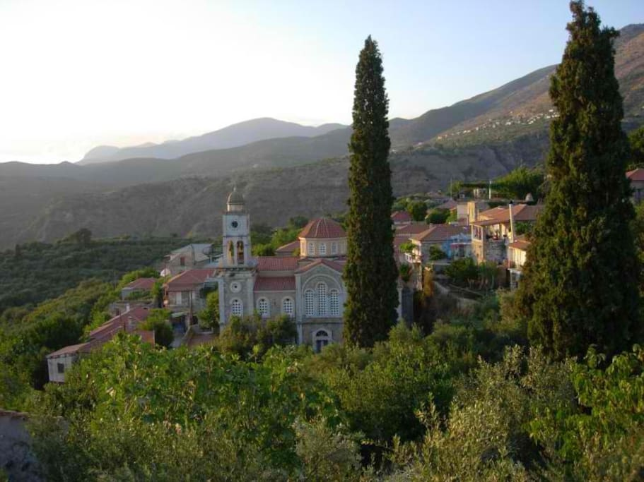 Views across the village from the house.