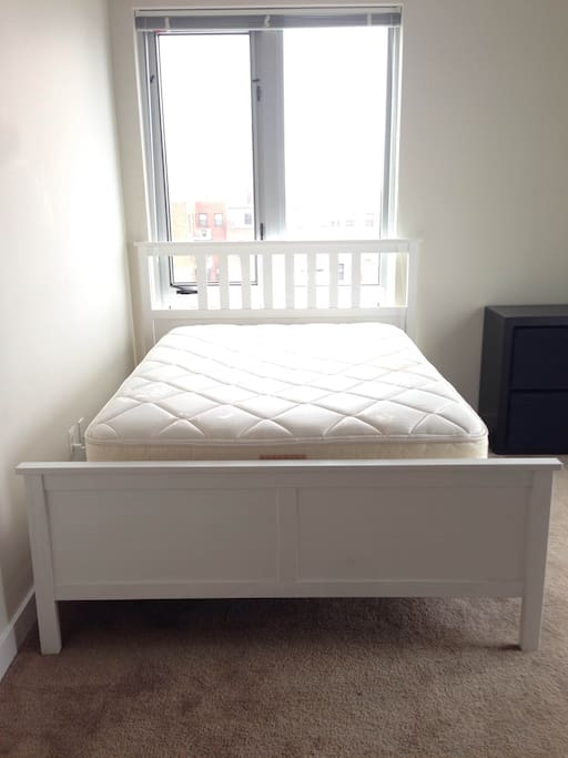 brand new bed frame  and mattress and box spring