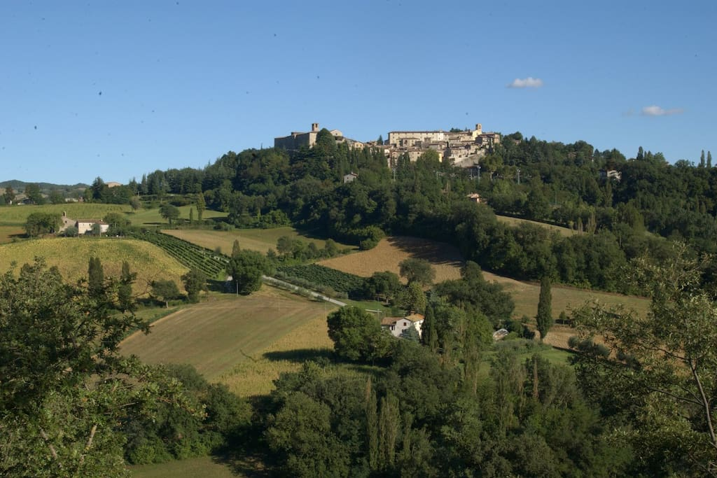 Montone seen from the villa