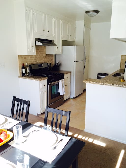 Top of the line kitchen for you to enjoy home cooked meals!
