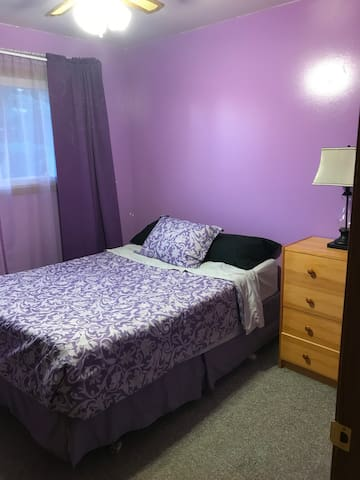 """The Purple Oasis"" , cozy home Private Bedroom."