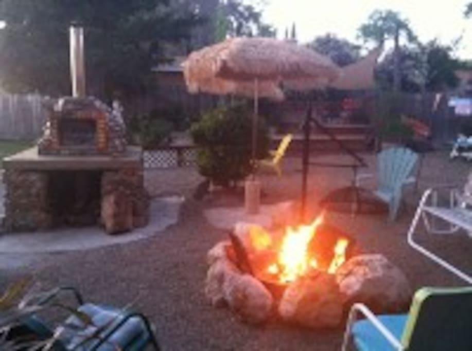 Campfire at the lake