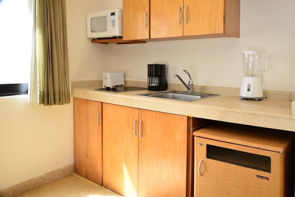 each suite has its own well equipped kitchenette