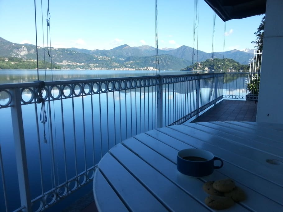 Morning coffee on the deck.