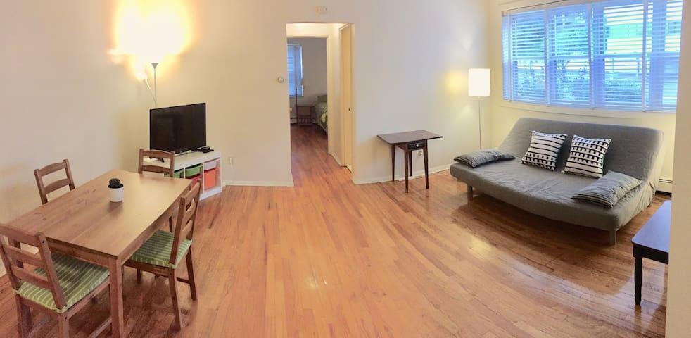 ENTIRE-Charming/Luminous 1 BEDROOM APT-near NYC!