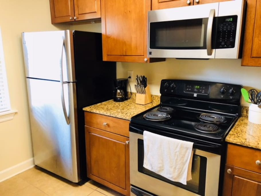 Full Kitchen with dishes, Pots, and Pans