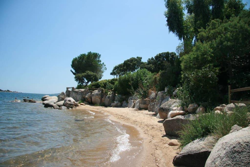 La plage n'a pas d'accès  publique