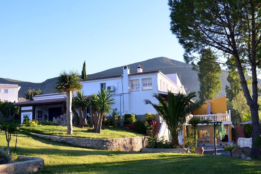 The villa and apartments