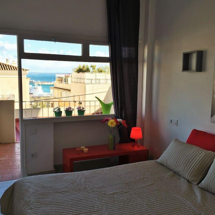 Bonito estudio con balcón en Porto Pí 26