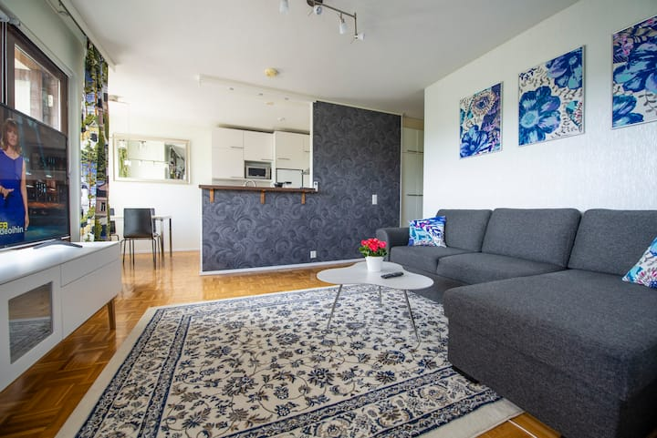 Mikkeli city center apartment with sauna