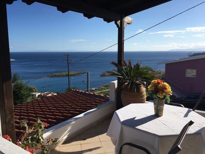 Daskaleio, Attica, house with beautiful sea view