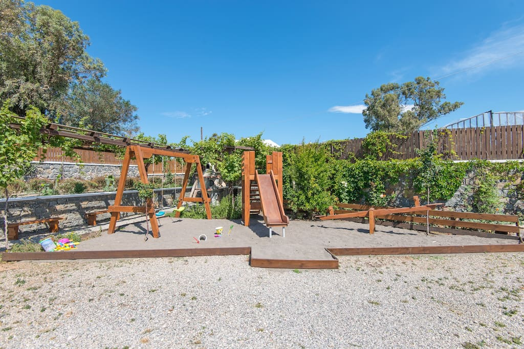 Playground and BBQ area for all villas