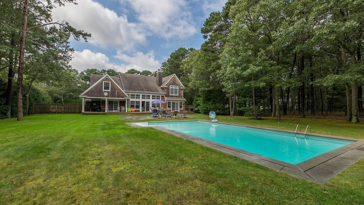 New Listing: 4,000' Classic Cedar Home, Airy & Open Escape w/ Outdoor Oasis Surrounded by Tall Oaks