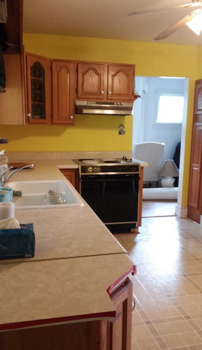 Our bright and cheery kitchen