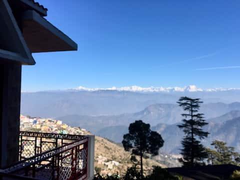 Bungalow con vistas panorámicas al Himalaya