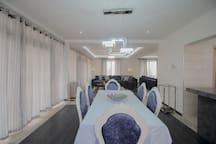 Classy dining room area