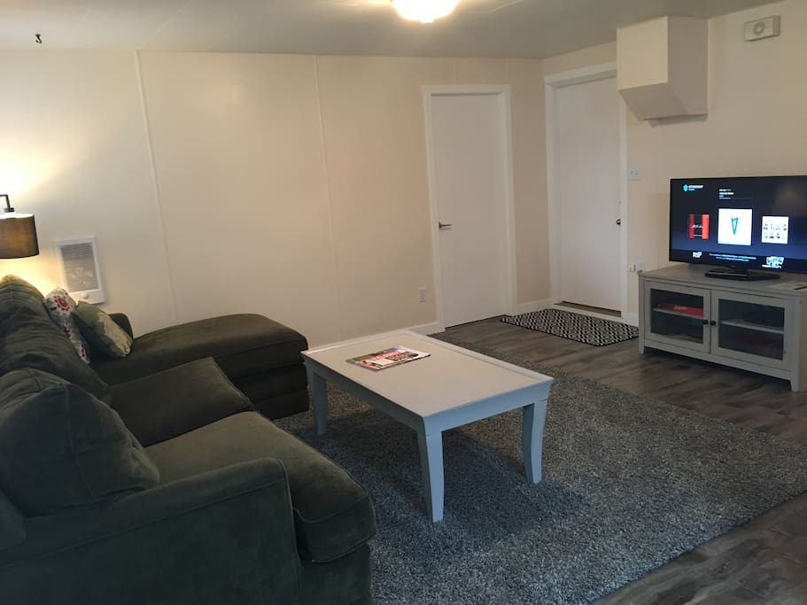Living room with Telus Optik