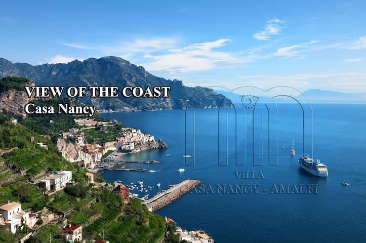 "Villa Nancy"" amazing sea view- parking"