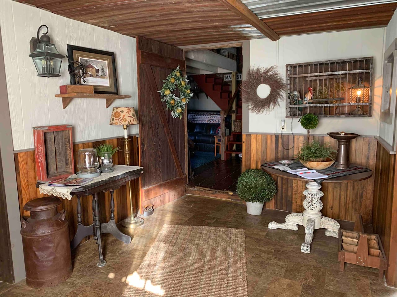 The entry into The Barn is bright and inviting. Here you will find our guestbook and we hope you will sign and share your wonderful experience.