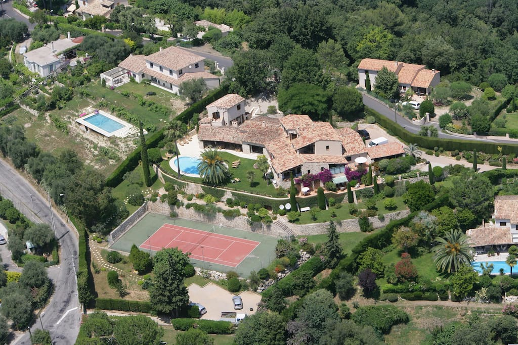 Property seen from a helicopter