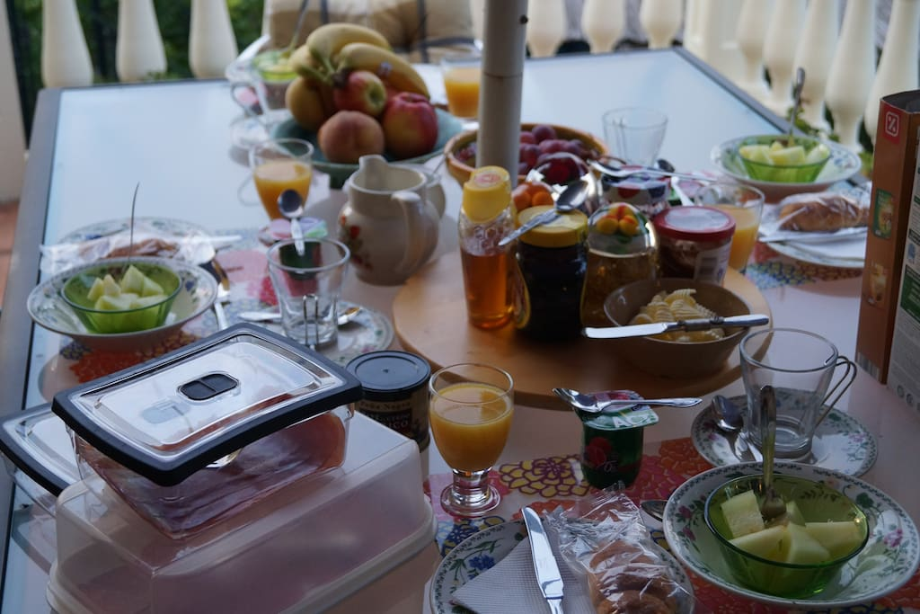 Optional Breakfast served on our terrace
