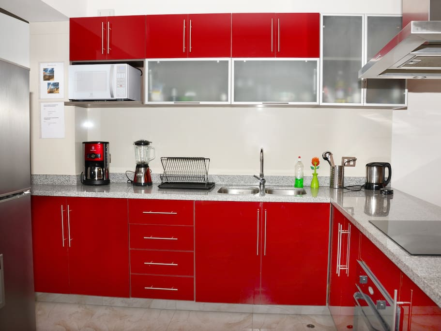 top modern kitchen, fully equipped