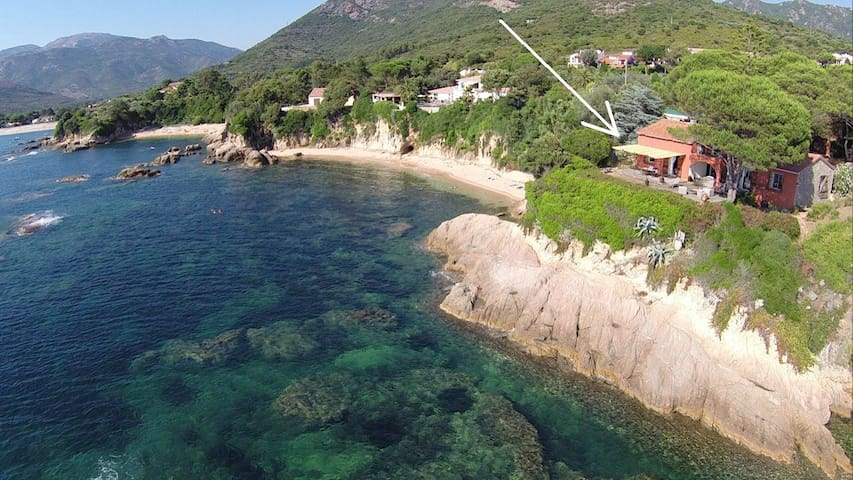 Eagle's nest on sea for romantic couple... - Sagone - Hus