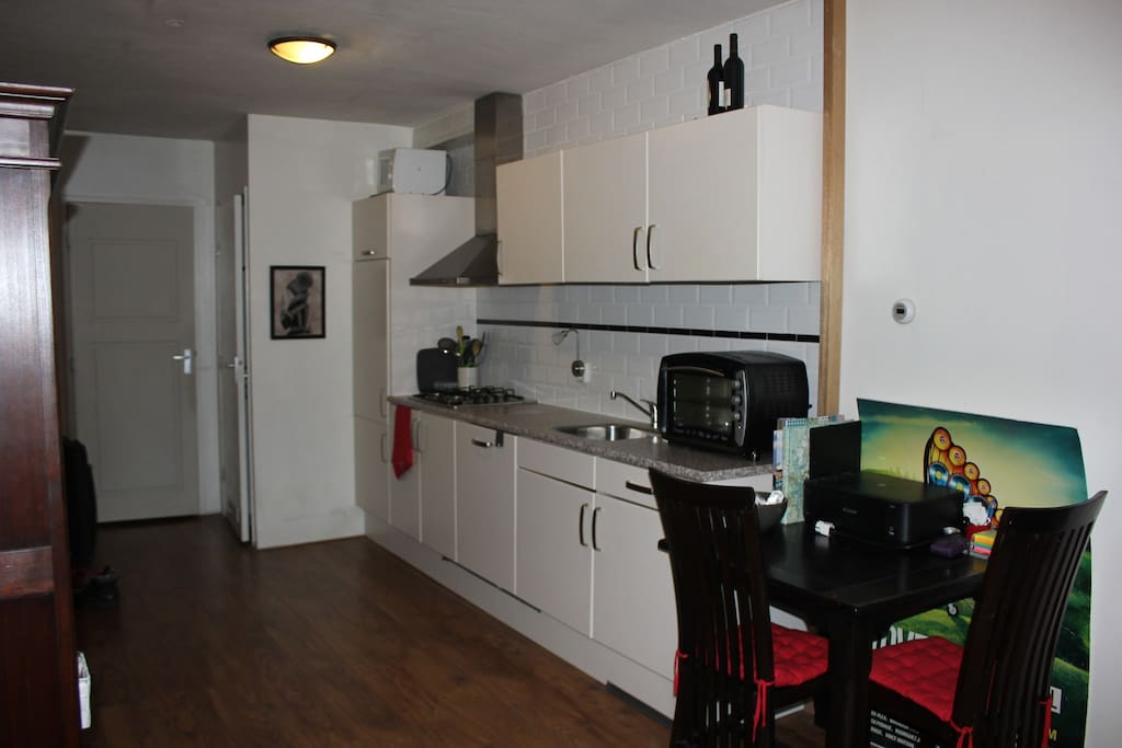 Small table for eating, kitchen.