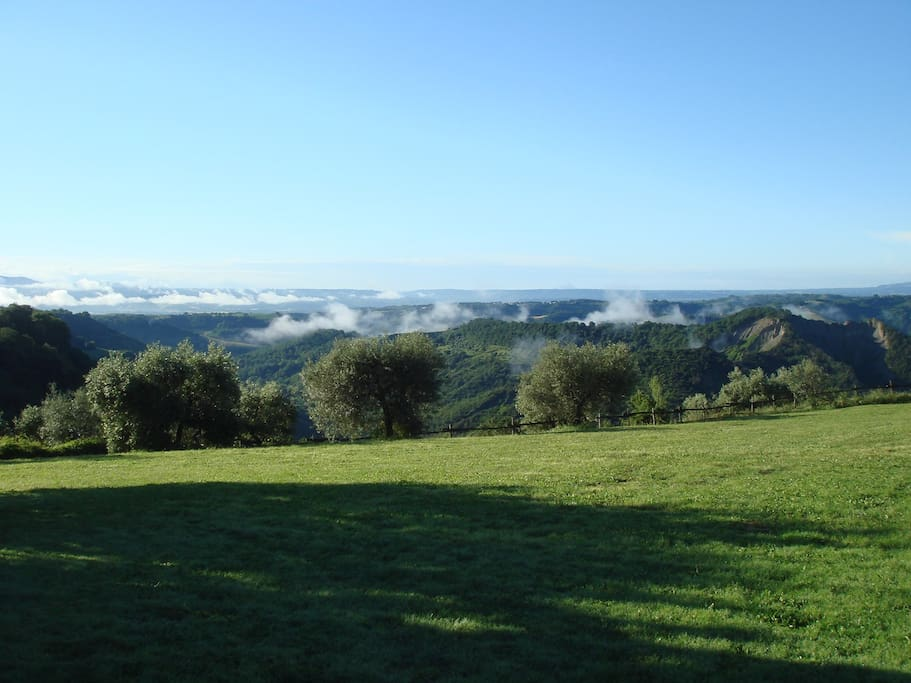 La vista sulla Valle dei Calanchi