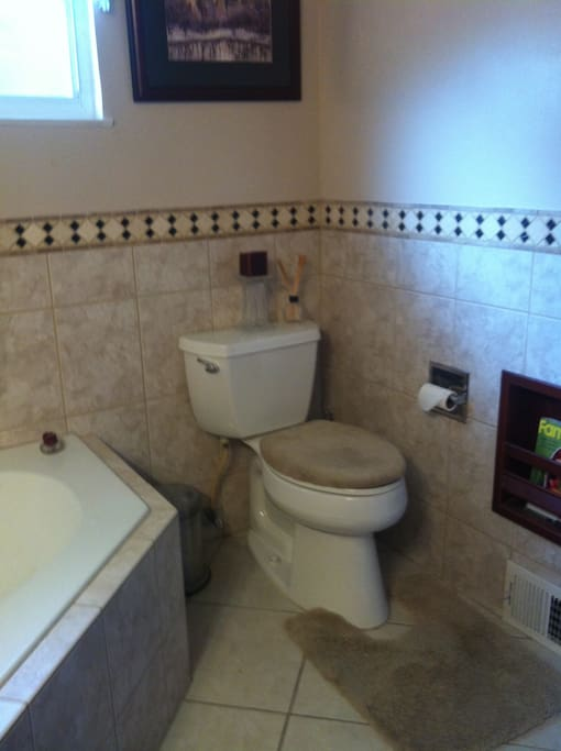 One toilet, one sink.