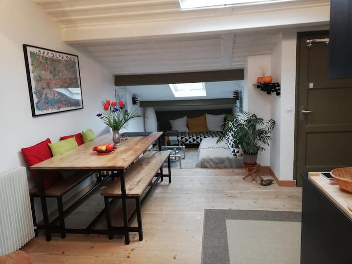 Grand studio loft tout confort