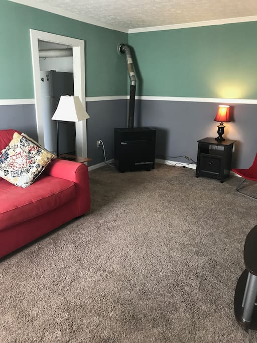 """Living Room with 50"""" Television"""