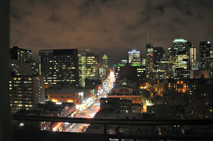 Unbeatable Montreal View from high-rise apartment!
