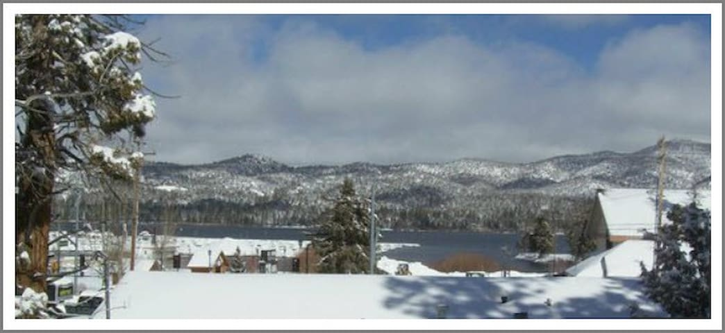 The view from our house.  WINTER