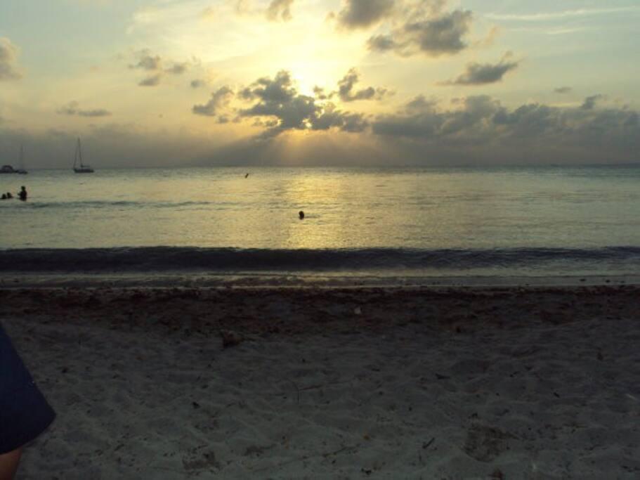 Playa Santa at sunset.