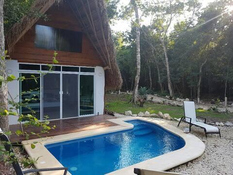Hermosa cabaña en la selva de Tulum