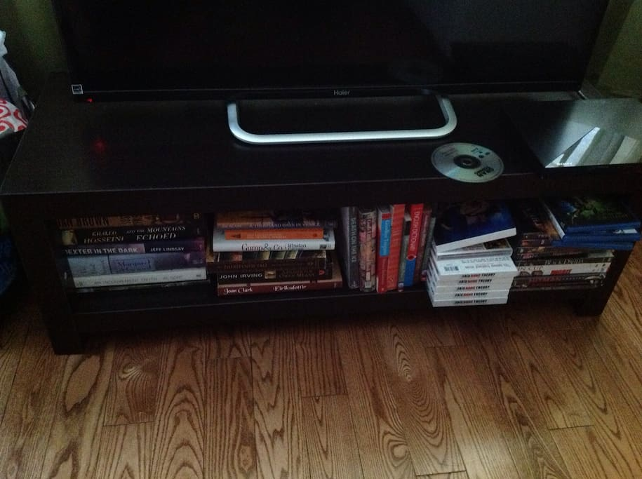Features DVD and book library, games, cards, puzzle books, smart tv, cable, wifi, free local calling.