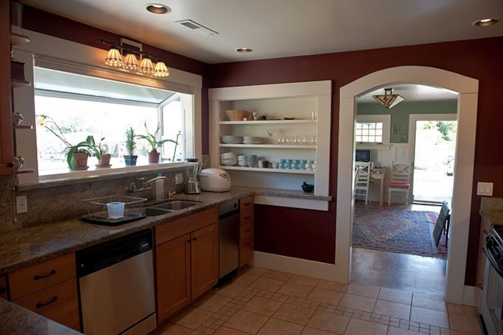 Fully equipped kitchen with stainless steel appliances, granite counter tops and newly remodeled