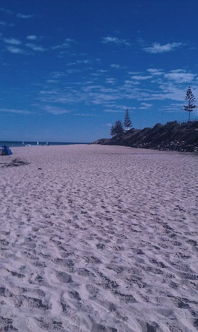 Our beautiful Christies Beach on the esplanade at the bottom of Beach Road