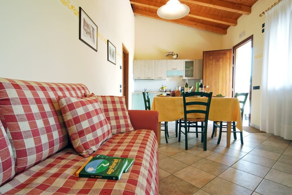 In the nice kitchen of our apartment Masorini you will find all that you need for a nice and relax meal..