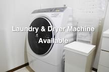 Laundry & Dryer Machine Available