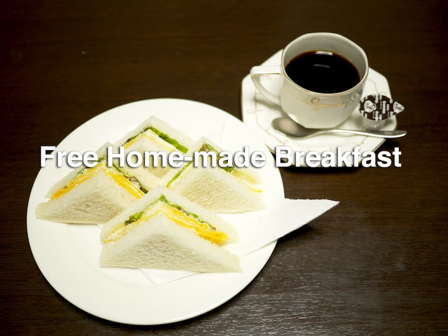 Free Breakfast! Oka-san cooks your breakfast with her whole heart.